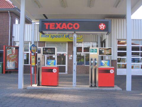 tankstation, benzinepomp, Texaco