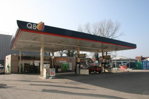 Q8, Haarlem, tankstation, groengas