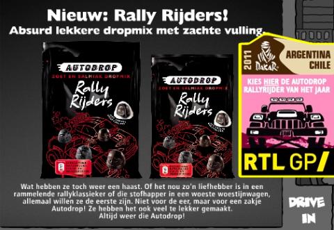 Autodrop, rally rijders