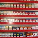 sigaretten, tabak, schap, pakjes
