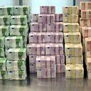 euro, geld, berg, miljoenen