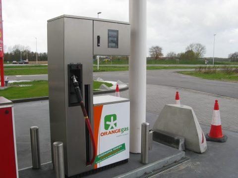 OrangeGas, groengas, aardgas, tankstation, pomp