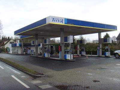 tinq, tankstation, onbemand, benzinepomp