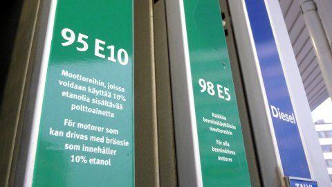 e10 finland euro98 euro95 biobrandstof