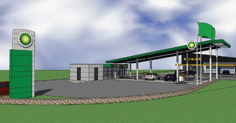 tankstation ontwerp bp