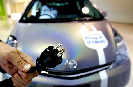hybride, elektrisch, stekker