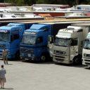 vrachtwagen, parkeerplaats