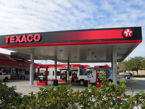 Texaco, tankstation, benzinepomp