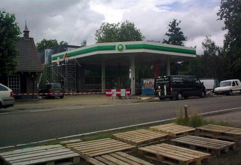 BP, tankstation, Nistelrode, verbouwing
