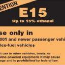 E15, biobrandstof, label