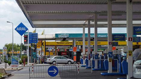 luxemburg, aral tankstation