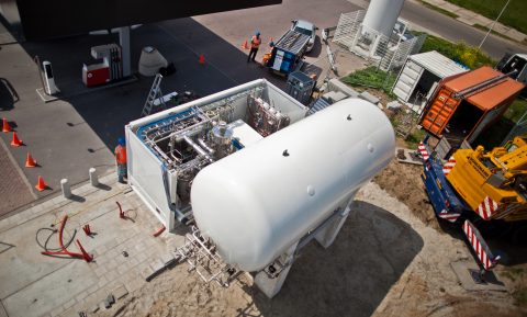 LNG-station Salland Olie Zwolle