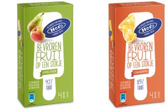 Hero, bevoren fruit op een stokje, waterijs