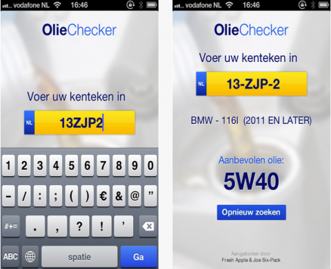 olie, checker, app