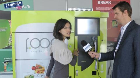 Bicom, vending machine, Francesca Barbieri, hot meal, food