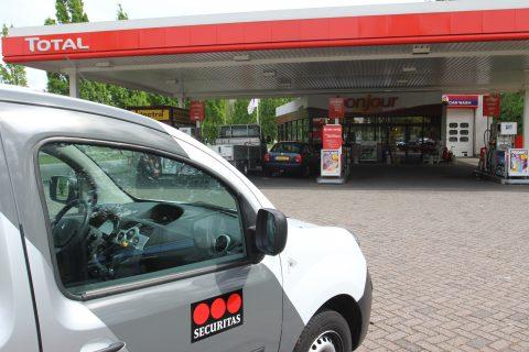 Total, tankstation, beveiliging, Securitas, Breda