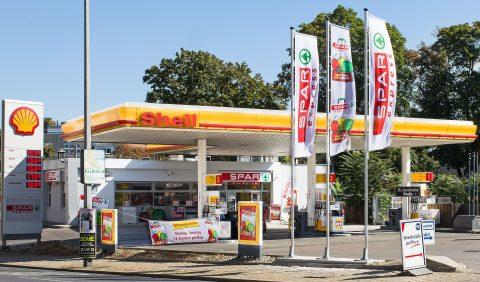 Spar, supermarkt, Shell, tankstation, Oostenrijk, shop