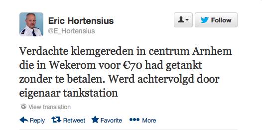 wijkagent, PvdA, tweet