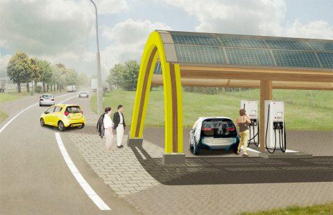 Fastned, snellaadstation, snelweg, elektrische auto, opladen