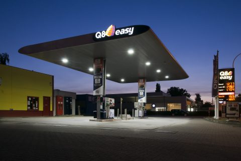 q8, tankstation, LEd-verlichting, Bever Innovations, LED-lampen