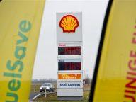tankstation, vlaggen, Shell, FuelSave