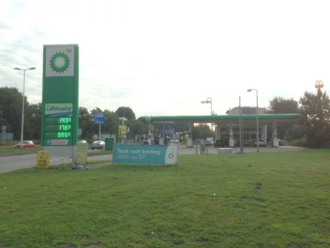 tankstation, BP, Rotterdam, Rozema