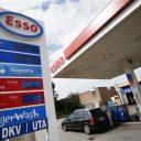 Esso tankstation prijsbord