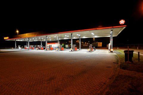 tankstation, nacht, avond, 24 uur