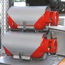 Dual gas bottles at hybrid power forklift