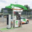Orange Gas station in Almelo