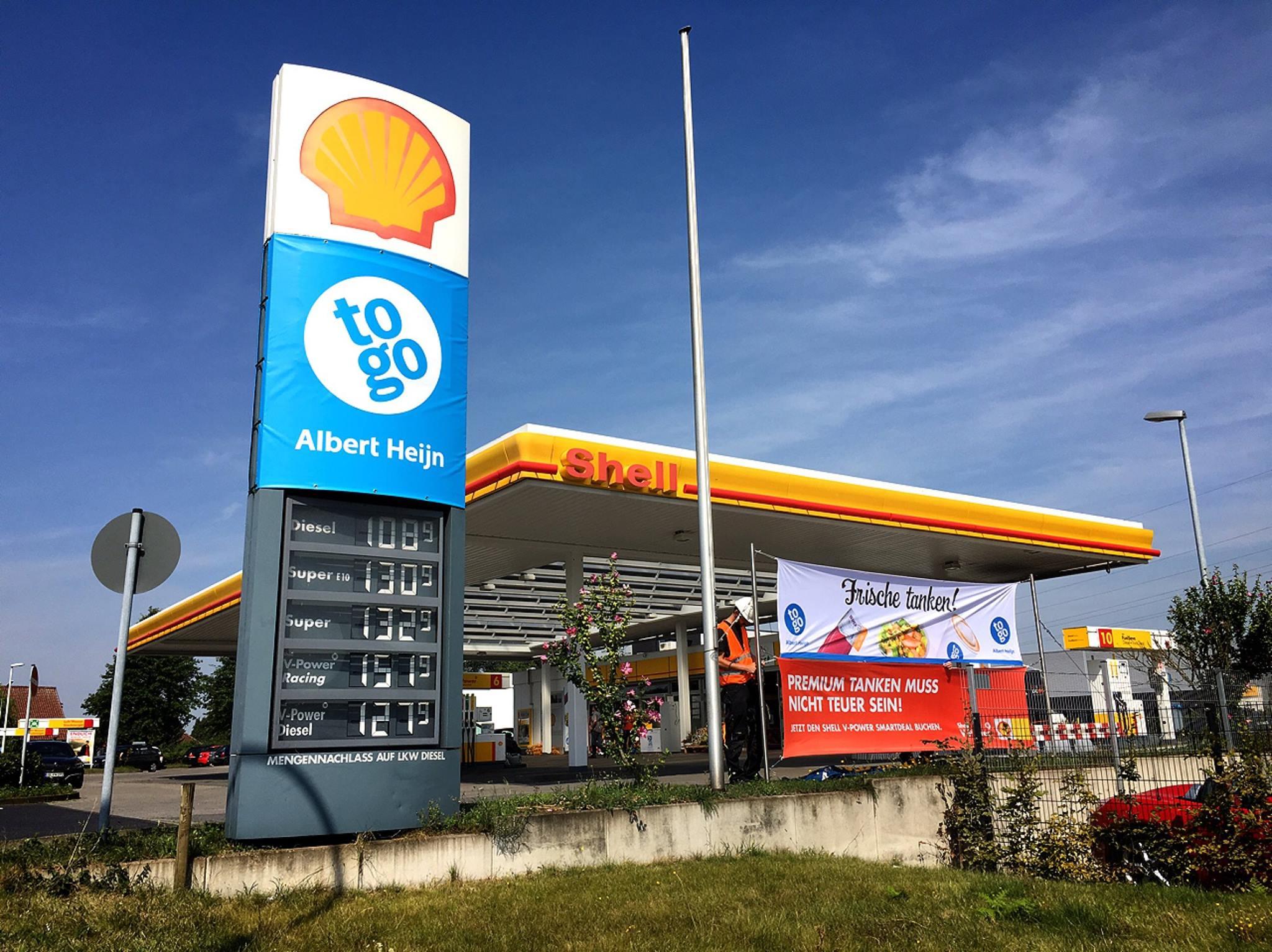 AH to go gestart op twee Shell-stations in Duitsland ...