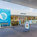 05-09-2016 Nieuwerkerk a/d IJssel Opening eerste AH to go-shop in BP station De Vink  Exterieur Foto: Guido Benschop | De Beeldredaktie