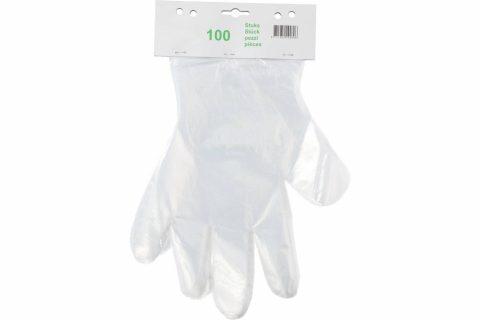 Plastic handschoen pomp